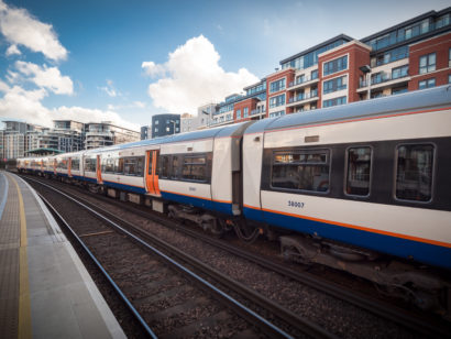 London train line close to residential properties