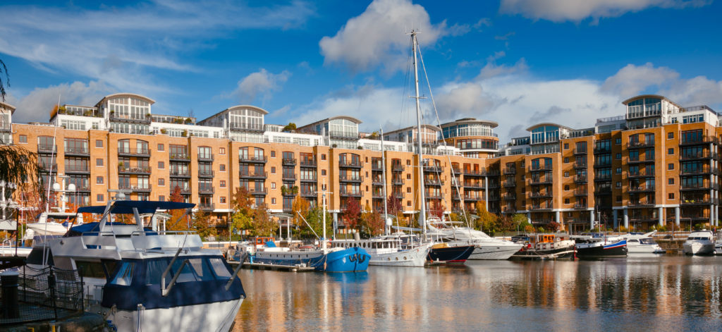 London residential housing marina apartments