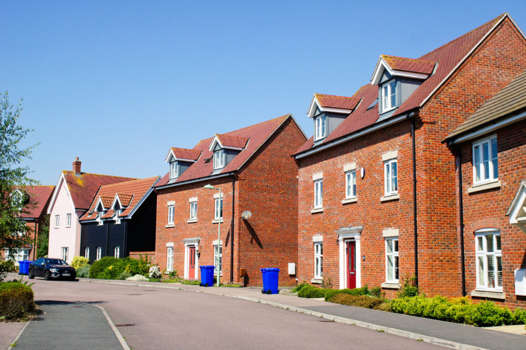 Residential red brick dwellings